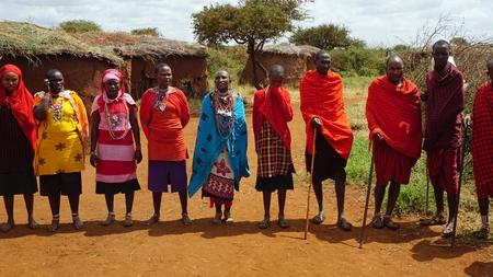 Photo pour Kimana, Kenya, circa June 2018 - Traditional Masai Village - image libre de droit