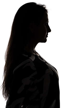 Photo for Silhouette of a woman - isolated photo of a woman - Royalty Free Image