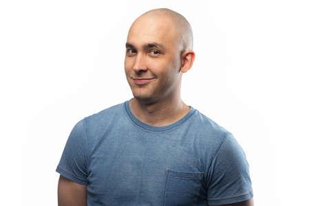 Photo pour Photo of the adult artful bald man - image libre de droit