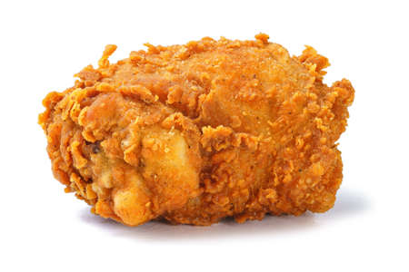 Photo for Photo of yellow crispy fried chicken thighs - Royalty Free Image