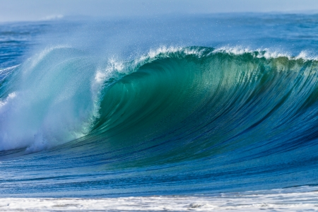 Photo for Cyclone swells ocean waves colors  - Royalty Free Image