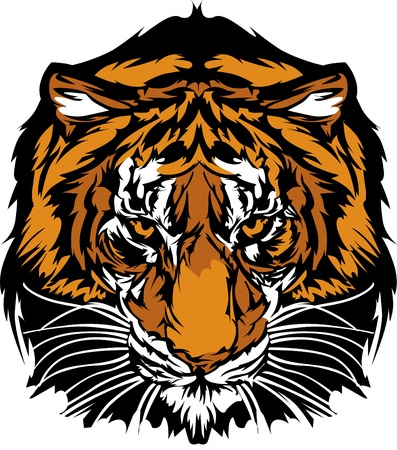 Tiger Head Graphic Mascot Logo