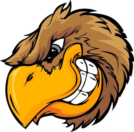Illustration for Cartoon Vector Mascot Image of a Bird Head - Royalty Free Image