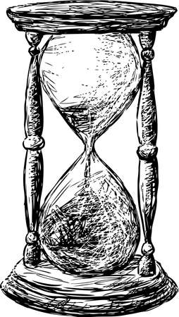 Ilustración de Vector sketch of an old hourglass - Imagen libre de derechos