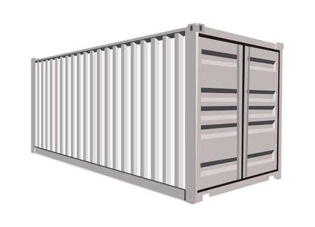 Illustration pour White container on white background - image libre de droit