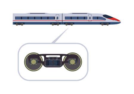Ilustración de Detailed high-speed train on a white background - Imagen libre de derechos