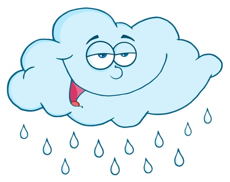 Cloud With RainDrops