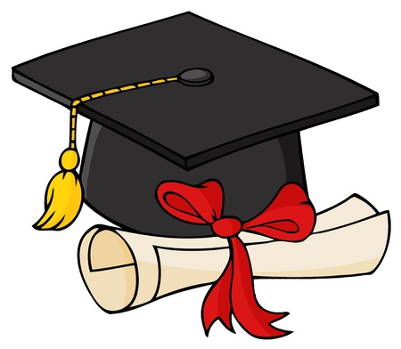 Graduate Black Cap With Diploma