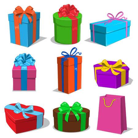 Illustration pour Present boxes collection. - image libre de droit