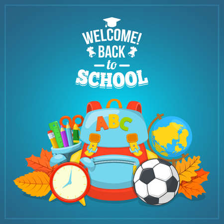 Photo for Education background design. School year beginning. Colorful vector composition. - Royalty Free Image