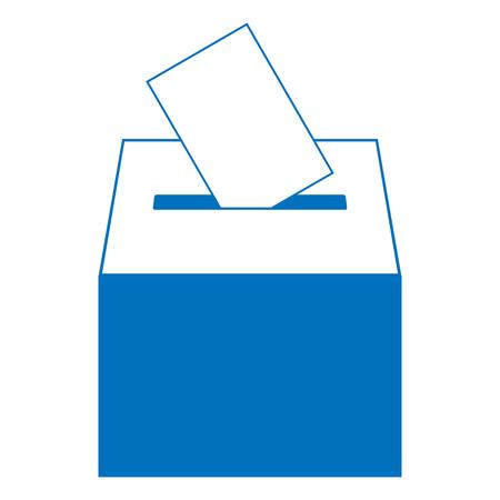 Illustration pour Ballot box icon. Vector illustration of a ballot box for election. Box for votes on voting. - image libre de droit