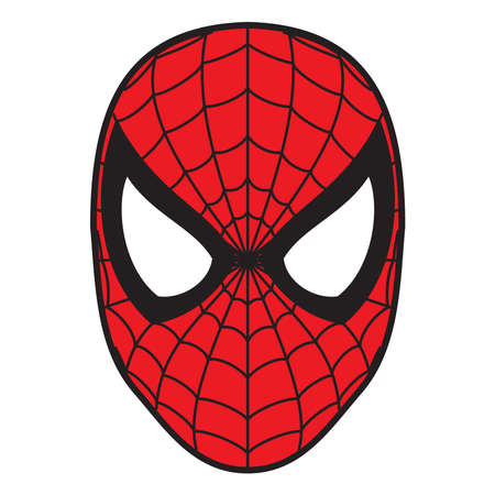 Photo for spiderman mask  illustration red color - Royalty Free Image