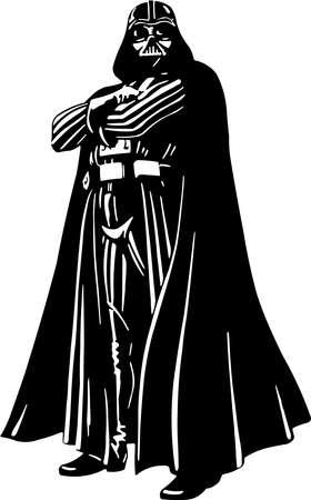 Photo pour Darth Vader star wars illustration - image libre de droit