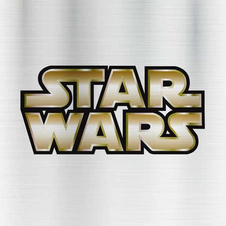 Photo pour Star Wars logo illustration metal - image libre de droit