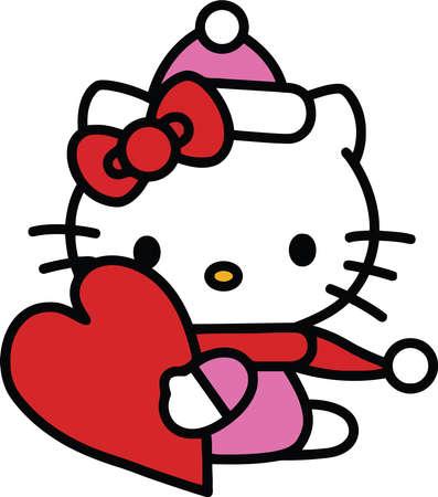 Hello Kitty with Heart illustration