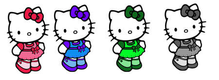 Pretty Hello Kitty many colors