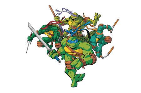 Photo for teenage mutant ninja turtles illustration - Royalty Free Image