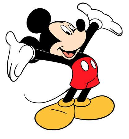 Photo pour mickey mouse character cartoon happpy illustration - image libre de droit