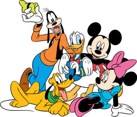 Photo for goofy  donald duck minnie mouse mickey mouse pluto characters  illustration funny - Royalty Free Image