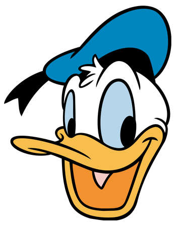 Photo for Donald duck illustration cartoon head cheered up - Royalty Free Image