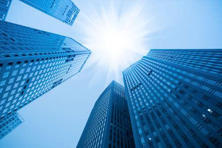 Foto de abstract blue building skyscraper under sky - Imagen libre de derechos