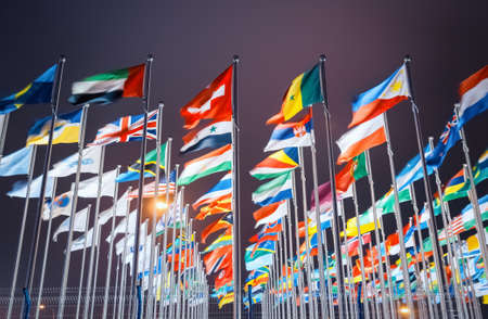 Photo pour national flags of countries all over the world - image libre de droit