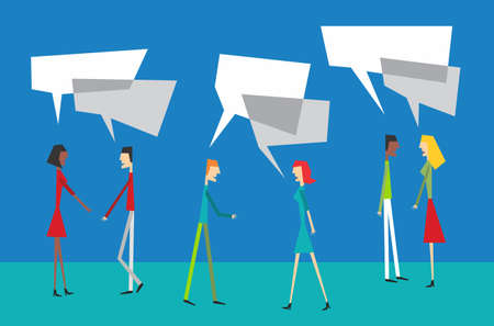 Photo pour Social community people interaction with speech balloon concept - image libre de droit