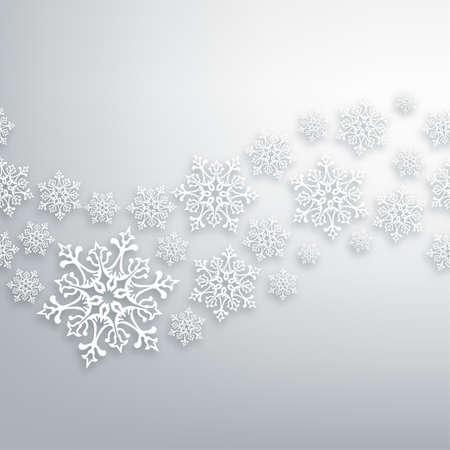 White Christmas snowflakes contemporary seamless pattern.