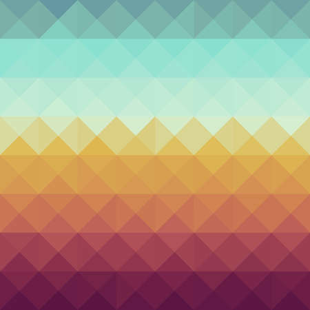 Illustration for Colorful retro hipsters triangle seamless pattern background    - Royalty Free Image