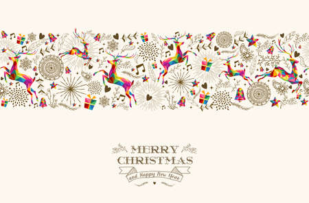 Illustration for Vintage Christmas elements - Royalty Free Image