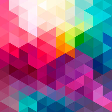 Ilustración de Abstract colorful geometric pattern seamless background with triangles and polygons shapes. Ideal for web and app template book cover design fabric and gift wrap. - Imagen libre de derechos
