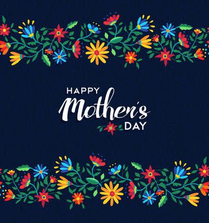 Illustration pour Happy mothers day illustration design for celebration event, spring time flower seamless pattern background. EPS10 vector. - image libre de droit