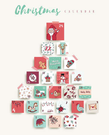 Illustration pour Cute holiday season decoration. - image libre de droit