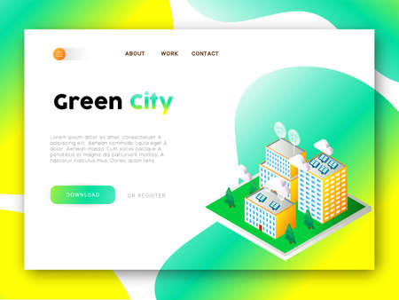 Illustration pour Internet site template for Eco friendly community - image libre de droit