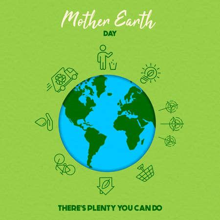Ilustración de International Earth Day illustration. Save the world concept for eco friendly activities and social environment awareness. - Imagen libre de derechos