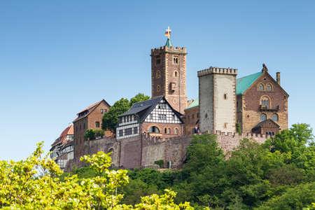 Photo pour View of the famous Wartburg - a world heritage site, Thuringia, Germany - image libre de droit