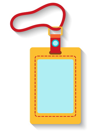 Illustration pour Flat design luggage tag isolated on white background. Vector illustration - image libre de droit