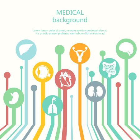 Illustration pour Concept of web banner Medical background.  - image libre de droit