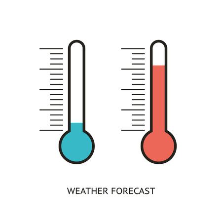 Ilustración de Flat design icons of thermometer - Imagen libre de derechos