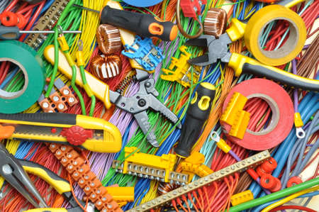 Foto de Electrical component kit to use in electrical installations - Imagen libre de derechos