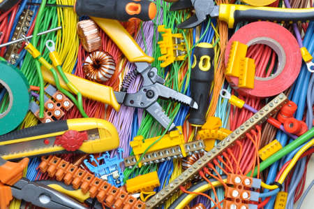 Photo pour Electrical component kit to use in electrical installations - image libre de droit