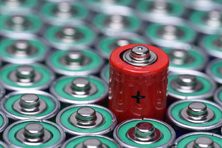 Photo pour Alkaline battery AAA size with selective focus on single battery - image libre de droit