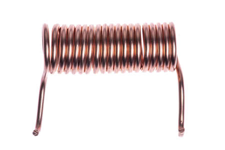 Photo for Copper coil isolated on white background - Royalty Free Image