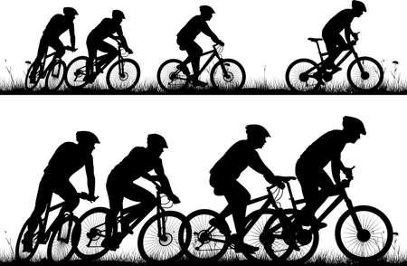 Illustrazione per bike - vector solhouettes and icons - Immagini Royalty Free