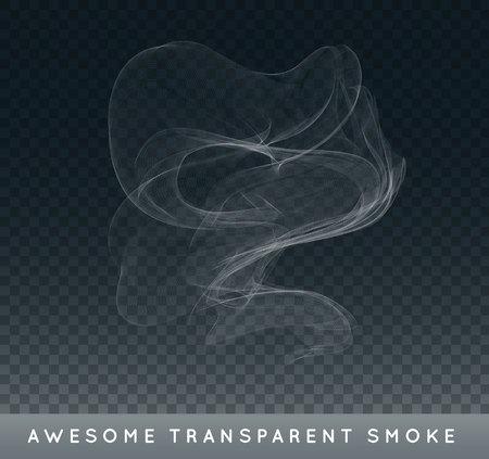 Ilustración de Realistic Cigarette Smoke or Fog or Haze with Transparency Isolated - Imagen libre de derechos