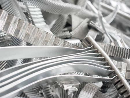 Foto de Scrap metal aluminum - Imagen libre de derechos