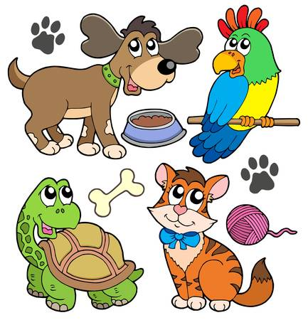 Pet collection - vector illustration.