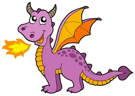Illustration for Cute small dragon - vector illustration. - Royalty Free Image