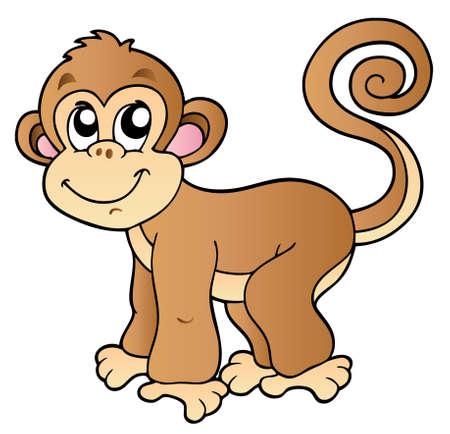 Cute small monkey - illustration.