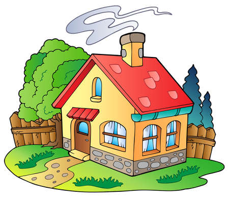 Illustration pour Small family house  - image libre de droit